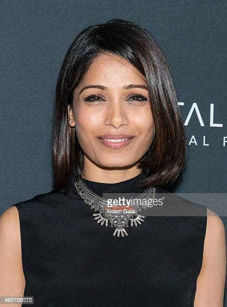Actress Freida Pinto attends 'India's Daughter' New York screening at Baruch College on March 9 2015 in New York City
