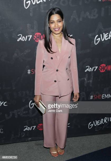 Actress Freida Pinto attends Showtime's 'Guerrilla' FYC Event at the WGA Theater on April 13 2017 in Beverly Hills California