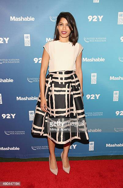 Actress Freida Pinto attends the 2015 Social Good Summit at 92Y on September 28 2015 in New York City