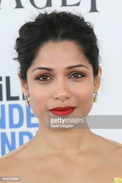 Actress Freida Pinto attends the 2017 Film Independent Spirit Awards on February 25 2017 in Santa Monica California