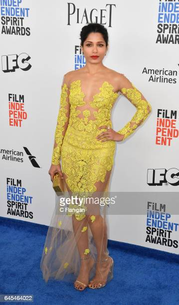 Actress Freida Pinto attends the 2017 Film Independent Spirit Awards at the Santa Monica Pier on February 25 2017 in Santa Monica California