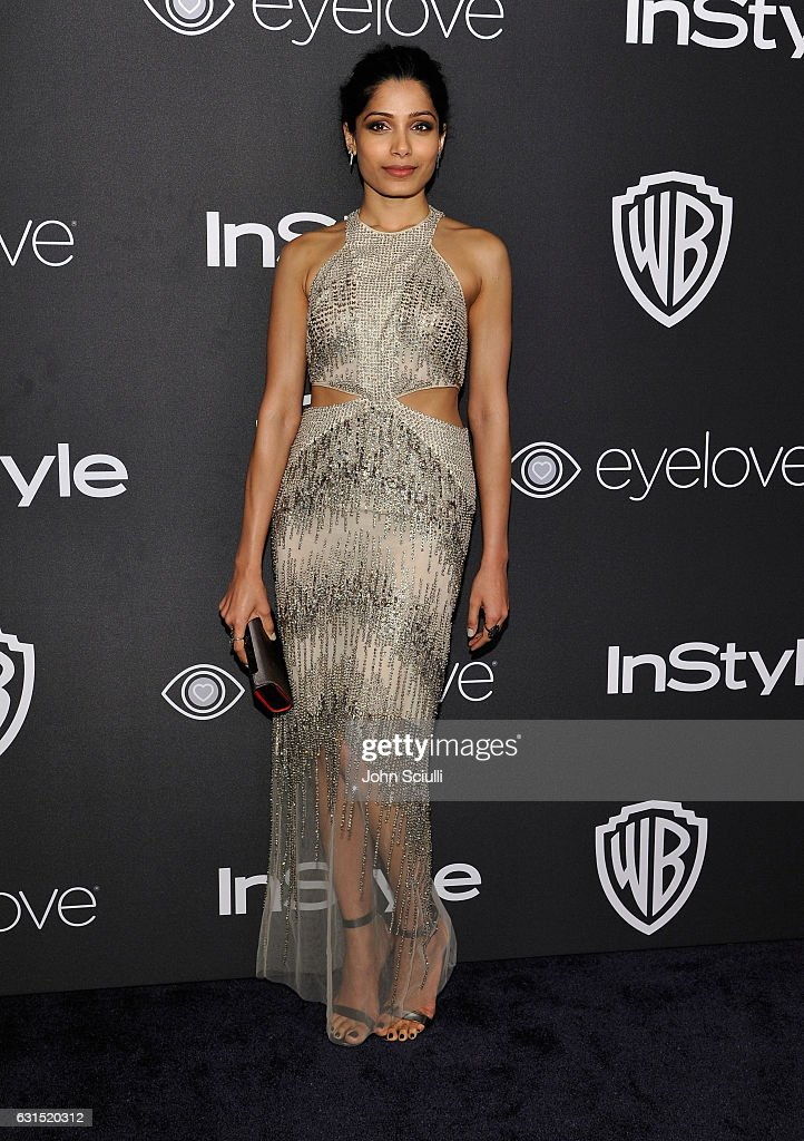 Actress Freida Pinto attends The 2017 InStyle and Warner Bros. 73rd Annual Golden Globe Awards Post-Party at The Beverly Hilton Hotel on January 8, 2017 in Beverly Hills, California.