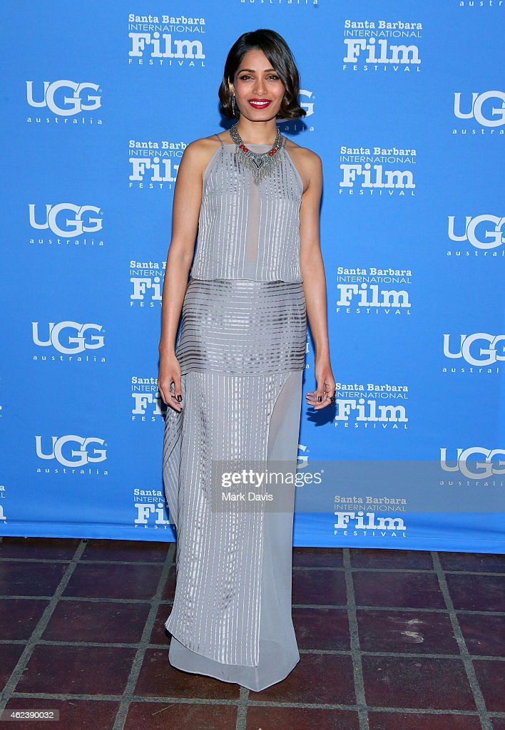 Actress <a gi-track='captionPersonalityLinkClicked' href=/galleries/search?phrase=Freida+Pinto&family=editorial&specificpeople=5518973 ng-click='$event.stopPropagation()'>Freida Pinto</a> attends the 30th Santa Barbara International Film Festival, Opening Night presentation of 'Desert Dancer' on January 27, 2015 in Santa Barbara, California.