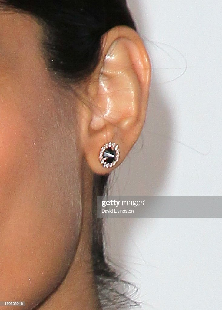 Actress Freida Pinto (earring detail) attends the 44th NAACP Image Awards at the Shrine Auditorium on February 1, 2013 in Los Angeles, California.