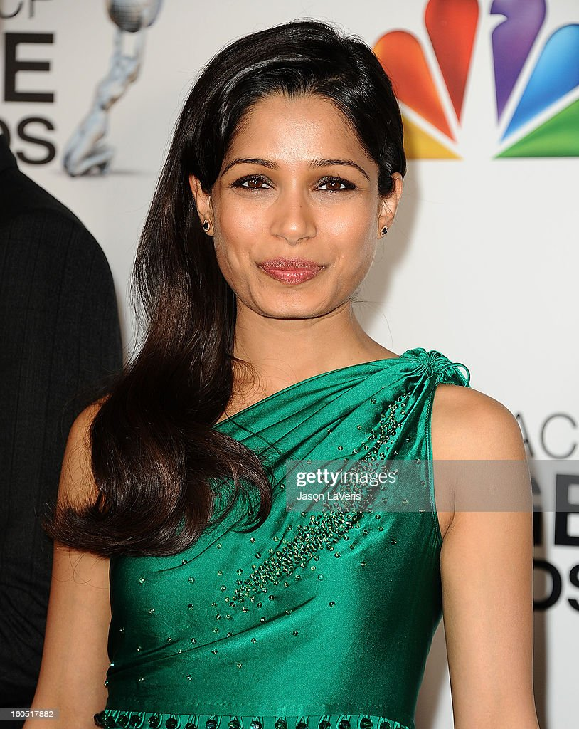 Actress Freida Pinto attends the 44th NAACP Image Awards at The Shrine Auditorium on February 1, 2013 in Los Angeles, California.