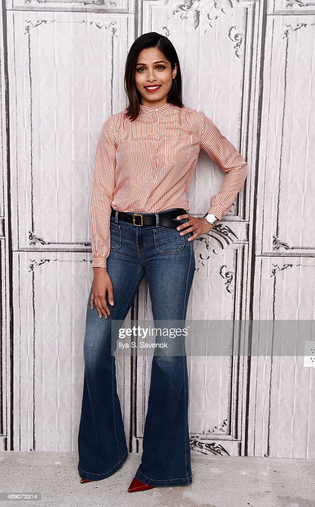 Actress <a gi-track='captionPersonalityLinkClicked' href=/galleries/search?phrase=Freida+Pinto&family=editorial&specificpeople=5518973 ng-click='$event.stopPropagation()'>Freida Pinto</a> attends the AOL BUILD Speaker Series with the cast of 'Desert Dancer' at AOL Studios on April 9, 2015 in New York City.