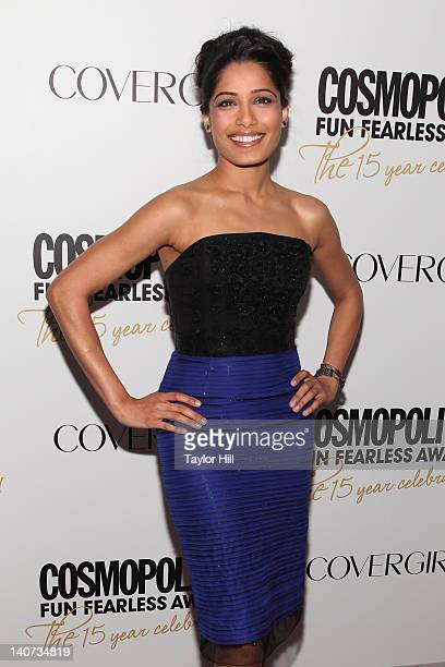 Actress Freida Pinto attends the Cosmopolitan Fun Fearless Men and Women of 2012 at the Mandarin Oriental Ballroom on March 5 2012 in New York City