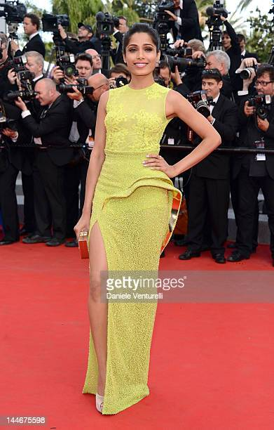 Actress Freida Pinto attends the 'De Rouille et D'os' Premiere during the 65th Annual Cannes Film Festival at Palais des Festivals on May 17 2012 in...