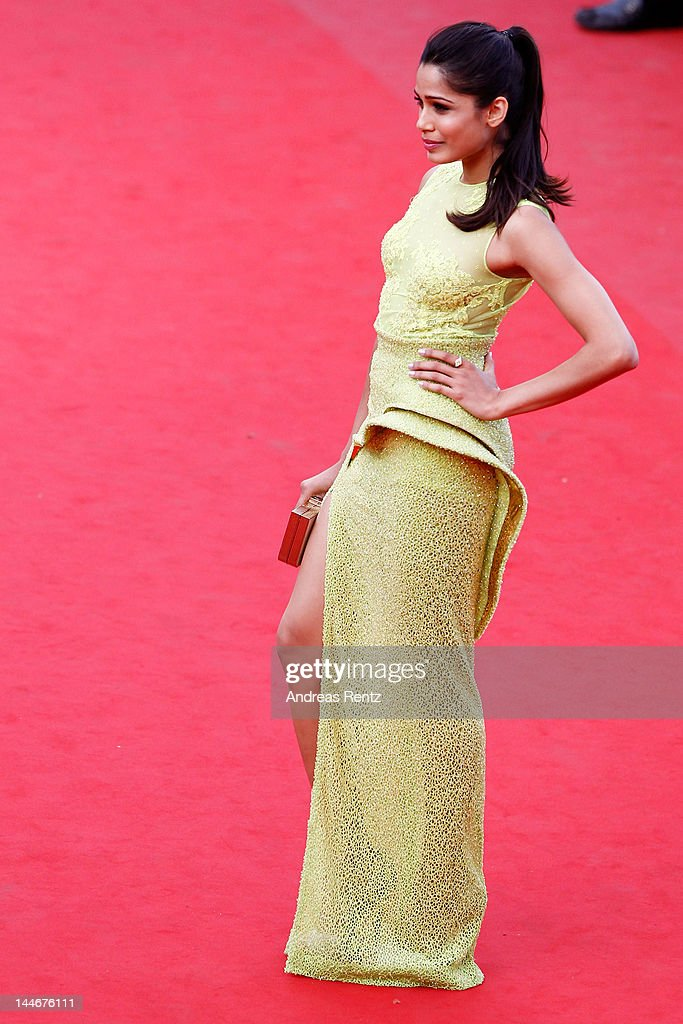 Actress Freida Pinto attends the 'De Rouille et D'os' Premiere during the 65th Annual Cannes Film Festival at Palais des Festivals on May 17, 2012 in Cannes, France.