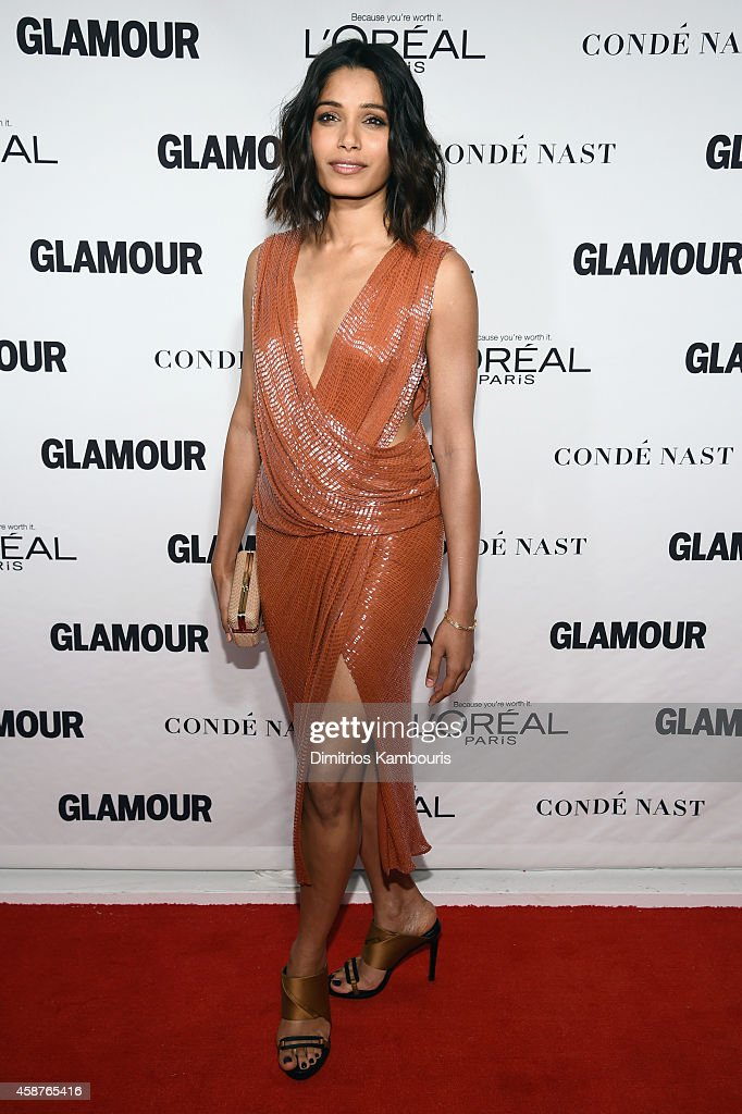 Actress <a gi-track='captionPersonalityLinkClicked' href=/galleries/search?phrase=Freida+Pinto&family=editorial&specificpeople=5518973 ng-click='$event.stopPropagation()'>Freida Pinto</a> attends the Glamour 2014 Women Of The Year Awards at Carnegie Hall on November 10, 2014 in New York City.