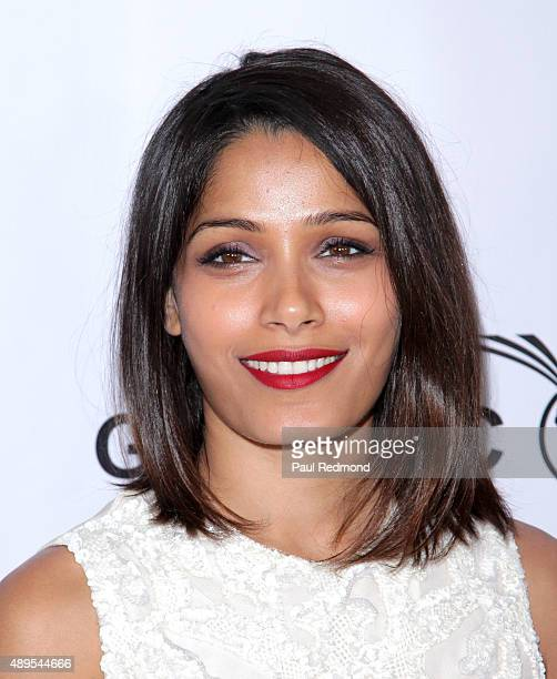 Actress Freida Pinto attends the Impact Africa Fundraiser at Sunset Gower Studios on September 21 2015 in Hollywood California