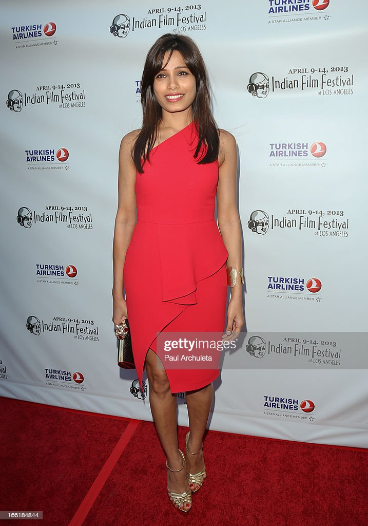 Actress Freida Pinto attends the Indian Film Festival Of Los Angeles (IFFLA) opening night gala for 'Gangs Of Wasseypur' at ArcLight Cinemas on April 9, 2013 in Hollywood, California.