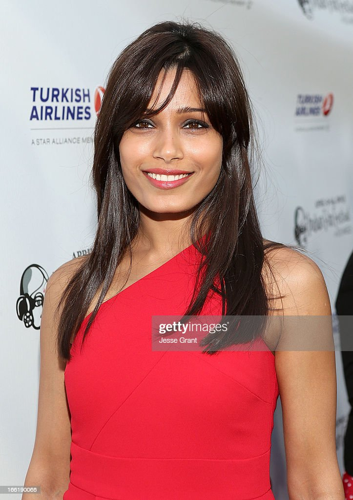 Actress <a gi-track='captionPersonalityLinkClicked' href=/galleries/search?phrase=Freida+Pinto&family=editorial&specificpeople=5518973 ng-click='$event.stopPropagation()'>Freida Pinto</a> attends the Indian Film Festival of Los Angeles (IFFLA) Opening Night Gala for 'Gangs Of Wasseypur' at ArcLight Cinemas on April 9, 2013 in Hollywood, California.