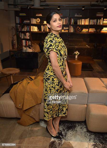 Actress Freida Pinto attends the 'Ladies First' Screening Reception at Neuehouse on November 20 2017 in New York City