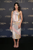 Actress Freida Pinto attends the L'Oreal Paris Women of Worth 2015 Celebration Arrivals at The Pierre Hotel on December 1 2015 in New York City