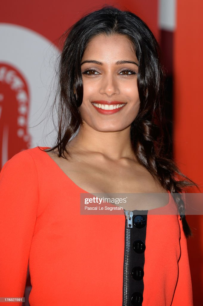 Actress <a gi-track='captionPersonalityLinkClicked' href=/galleries/search?phrase=Freida+Pinto&family=editorial&specificpeople=5518973 ng-click='$event.stopPropagation()'>Freida Pinto</a> attends the Miu Miu Women's Tales during the 70th Venice International Film Festival on August 29, 2013 in Venice, Italy.