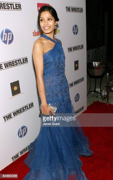 Actress Freida Pinto attends the Official 'Slumdog Millionaire' and 'The Wrestler' Post Oscar Party at ONE Sunset on February 22 2009 in West...