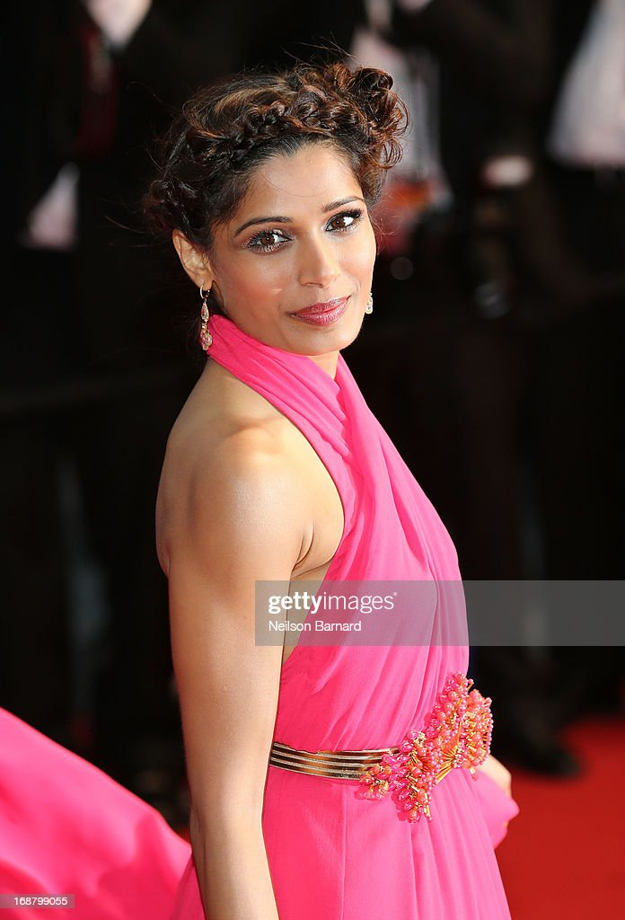 Actress Freida Pinto attends the Opening Ceremony and premiere of 'The Great Gatsby' during the 66th Annual Cannes Film Festival at Palais des Festivals on May 15, 2013 in Cannes, France.