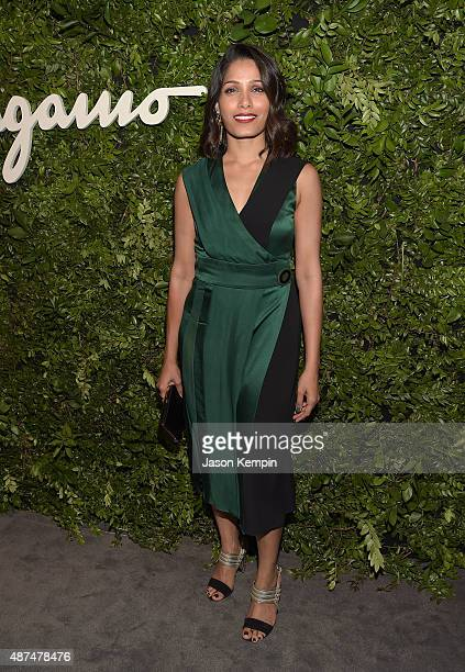 Actress Freida Pinto attends the Salvatore Ferragamo Celebration of 100 Years in Hollywood with the newly unveiled Rodeo Drive flagship at Salvatore...