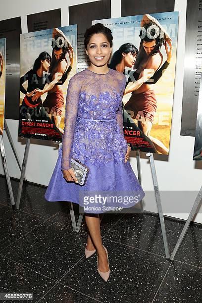 Actress Freida Pinto attends the special screening of Relativity Studio's 'Desert Dancer' at Museum of Modern Art on April 7 2015 in New York City