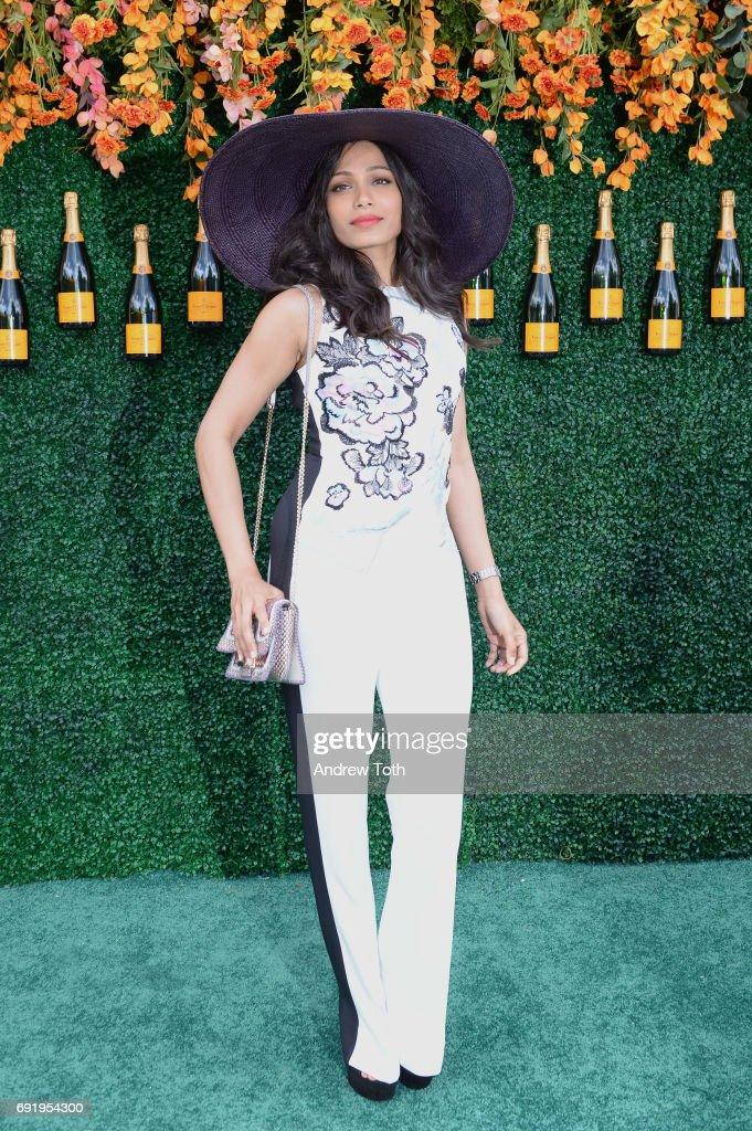 Actress Freida Pinto attends The Tenth Annual Veuve Clicquot Polo Classic at Liberty State Park on June 3, 2017 in Jersey City, New Jersey.