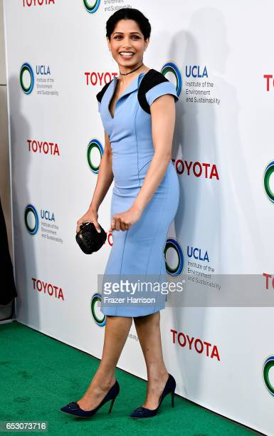 Actress Freida Pinto attends UCLA Institute of the Environment and Sustainability celebrates Innovators For A Healthy Planet at a private residence...