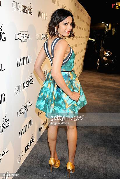 Actress Freida Pinto attends VANITY FAIR and L'Oreal Paris DJ Night hosted by Freida Pinto to benefit Girl Rising at 1OAK on February 20 2015 in Los...