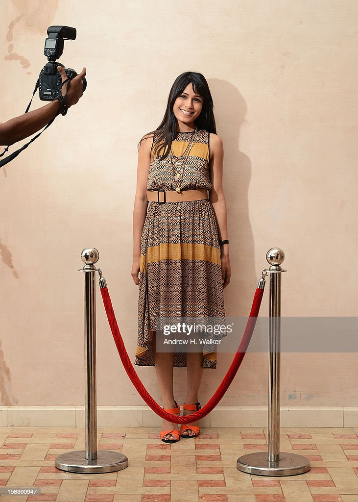Actress Freida Pinto during a portrait session on day six of the 9th Annual Dubai International Film Festival held at the Madinat Jumeriah Complex on December 14, 2012 in Dubai, United Arab Emirates.