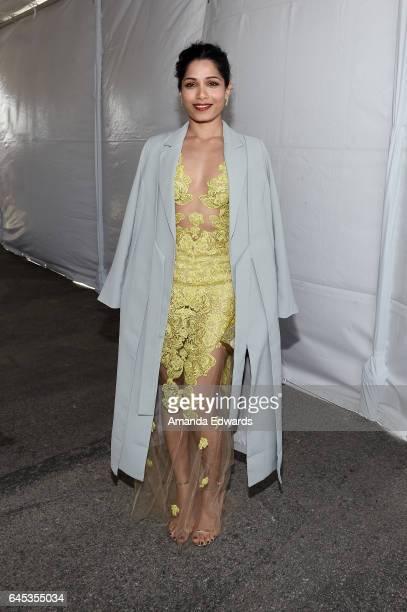 Actress Freida Pinto during the 2017 Film Independent Spirit Awards at the Santa Monica Pier on February 25 2017 in Santa Monica California