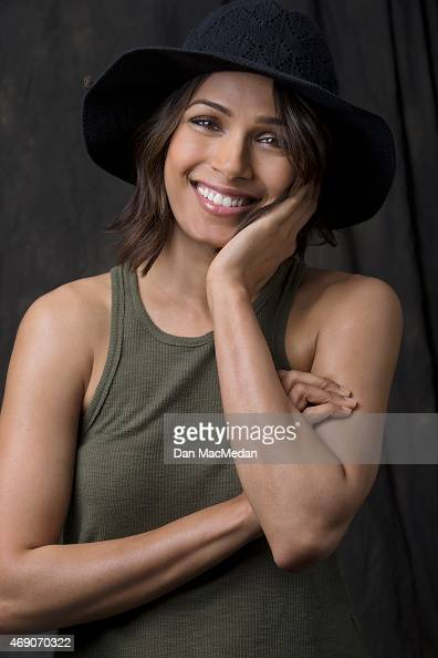 Actress Freida Pinto is photographed for USA Today on March 26 2015 in Century City California PUBLISHED IMAGE