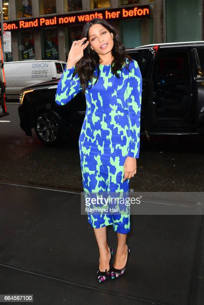 Actress Freida Pinto is seen on April 4 2017 in New York City
