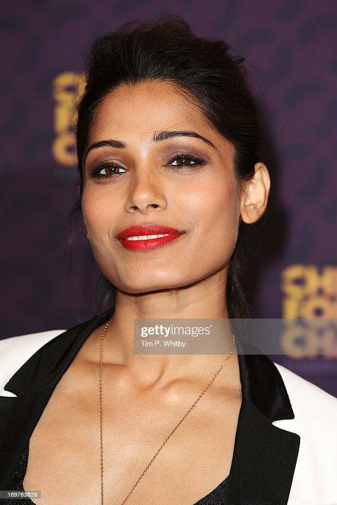 Actress Freida Pinto poses backstage in the media room at the 'Chime For Change: The Sound Of Change Live' Concert at Twickenham Stadium on June 1, 2013 in London, England. Chime For Change is a global campaign for girls' and women's empowerment founded by Gucci with a founding committee comprised of Gucci Creative Director Frida Giannini, Salma Hayek Pinault and Beyonce Knowles-Carter.