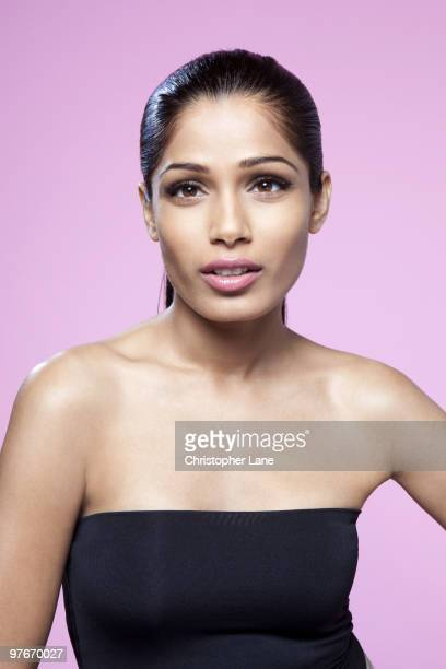 Actress Freida Pinto poses for a portrait session on July 21 New York NY