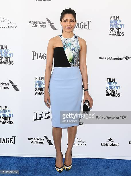 Actress Frieda Pinto attends the 2016 Film Independent Spirit Awards on February 27 2016 in Santa Monica California