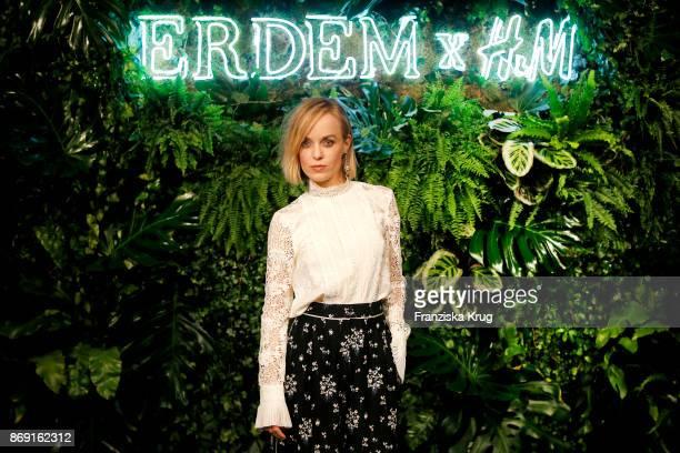 Actress Friederike Kempter wearing ERDEM X HM attends the ERDEM x HM PreShopping Event on November 1 2017 in Berlin Germany