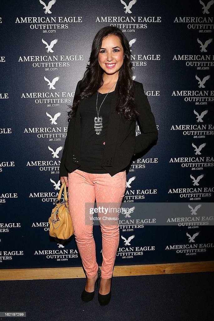 Actress Fátima Torre attends the opening of the American Eagle Mexico City store at Centro Comercial Perisur on February 19, 2013 in Mexico City, Mexico.