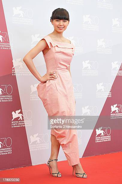 Actress Fumi Nikaido attends 'Why Don't You Play In Hell' Photocall during the 70th Venice International Film Festival at Palazzo del Casino on...