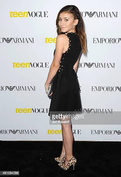 Actress G Hannelius arrives at Teen Vogue's 13th Annual Young Hollywood Issue Launch Party on October 2 2015 in Los Angeles California