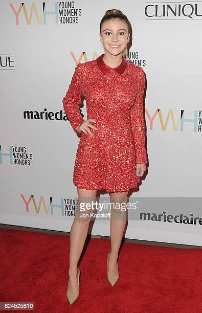 Actress G Hannelius arrives at the 1st Annual Marie Claire Young Women's Honors at Marina del Rey Marriott on November 19 2016 in Marina del Rey...