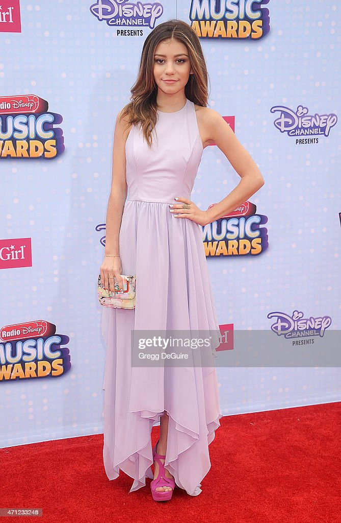 Actress G Hannelius arrives at the 2015 Radio Disney Music Awards at Nokia Theatre LA Live on April 25 2015 in Los Angeles California