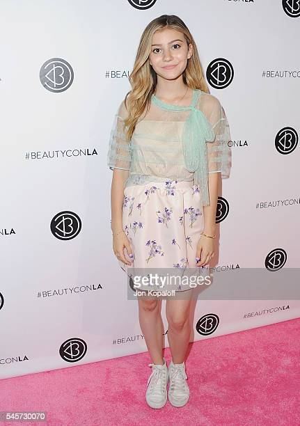 Actress G Hannelius arrives at the 4th Annual Beautycon Festival Los Angeles at Los Angeles Convention Center on July 9 2016 in Los Angeles California