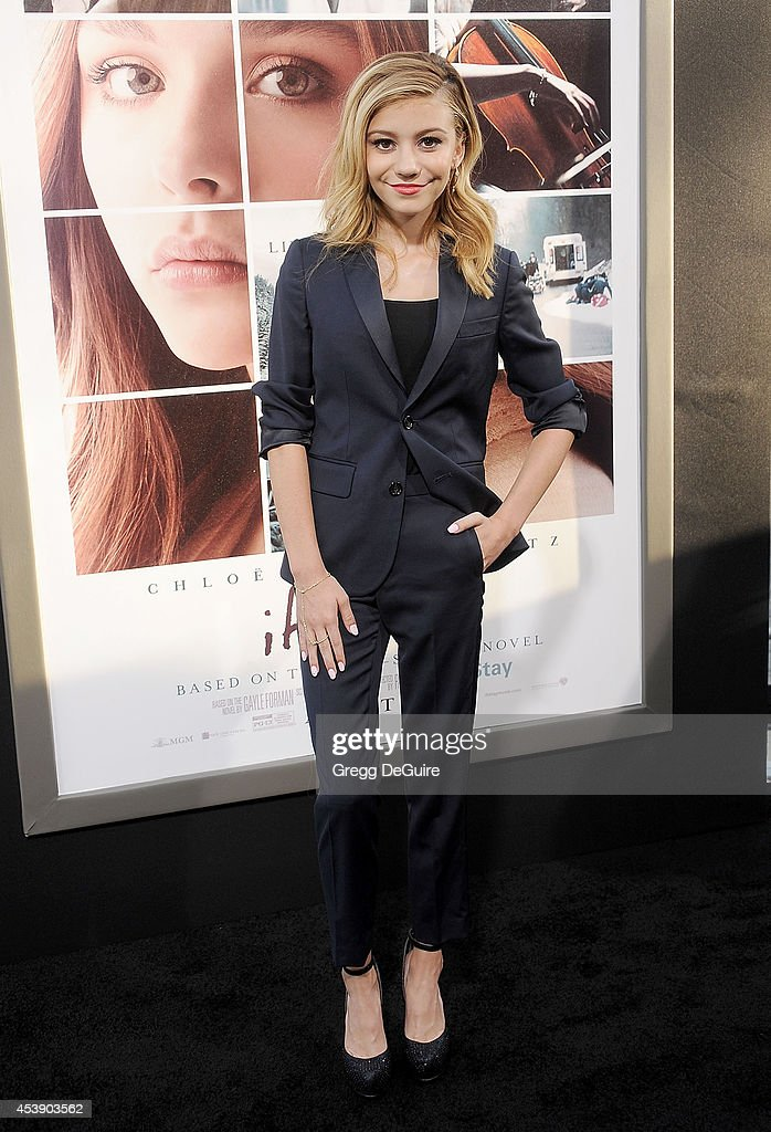 Actress G. Hannelius arrives at the Los Angeles premiere of 'If I Stay' at TCL Chinese Theatre on August 20, 2014 in Hollywood, California.