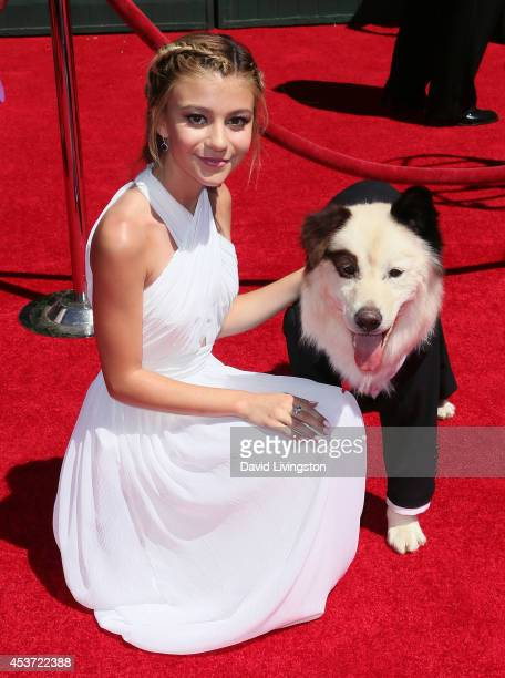 Actress G Hannelius attends the 2014 Creative Arts Emmy Awards at the Nokia Theatre LA Live on August 16 2014 in Los Angeles California