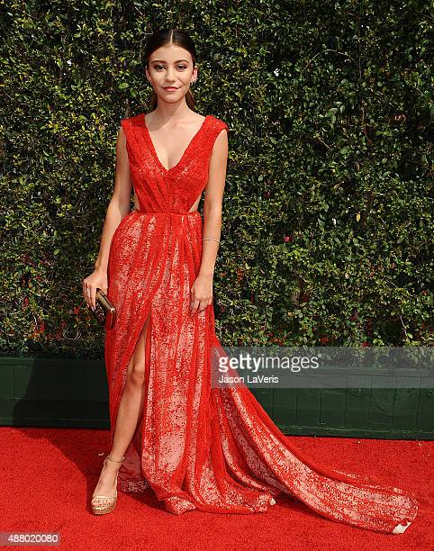 Actress G Hannelius attends the 2015 Creative Arts Emmy Awards at Microsoft Theater on September 12 2015 in Los Angeles California