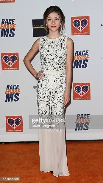 Actress G Hannelius attends the 22nd Annual Race to Erase MS event at the Hyatt Regency Century Plaza on April 24 2015 in Century City California
