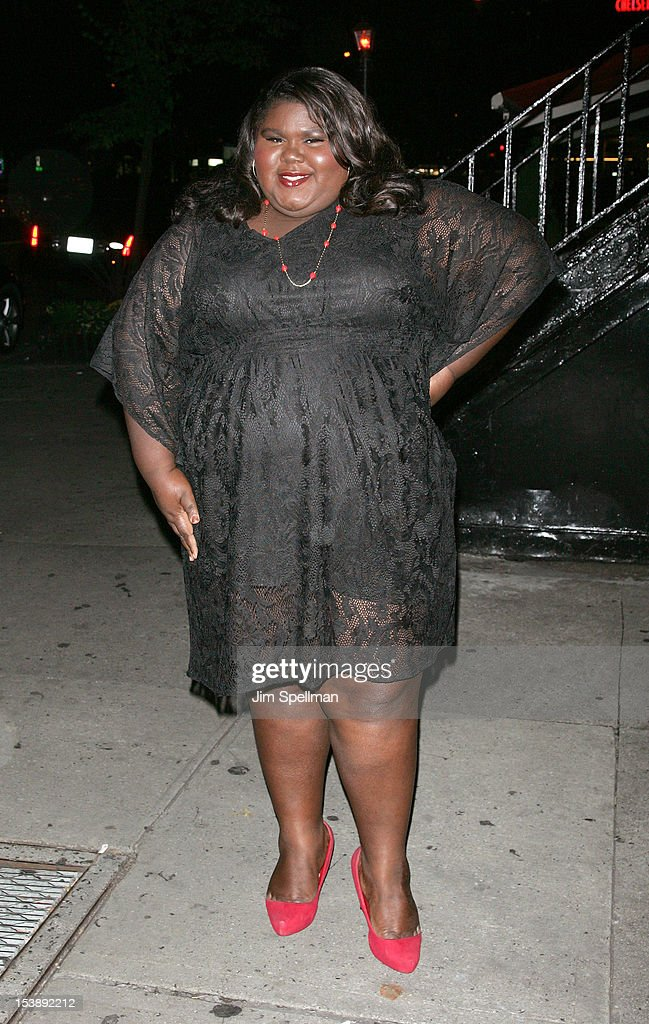 Actress Gabby Sidibe attends The Cinema Society with Hugo Boss and Appleton Estate screening of 'Seven Psychopaths' at Clearview Chelsea Cinemas on October 10, 2012 in New York City.