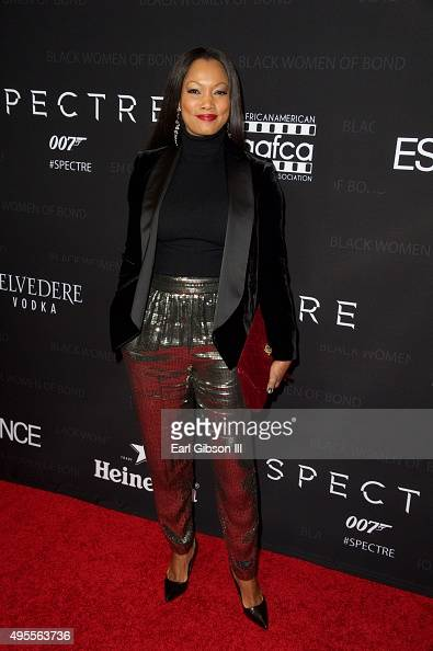 Actress Gabcelle Beauvais attends 'Spectre'The Black Women of Bond tribute at California African American Museum on November 3 2015 in Los Angeles...