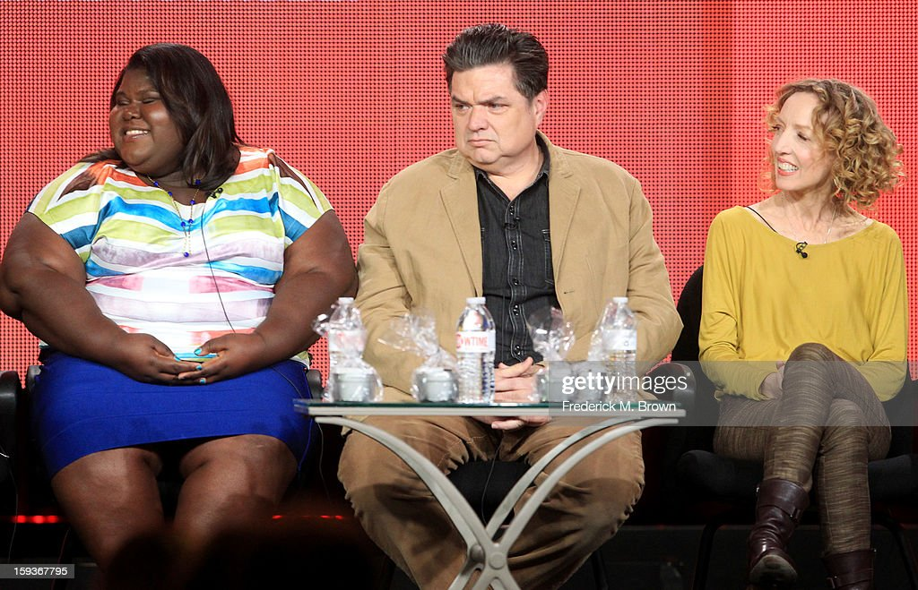 Actress Gabourey Sidibe, actor Oliver Platt and Executive Producer Darlene Hunt of of 'THE