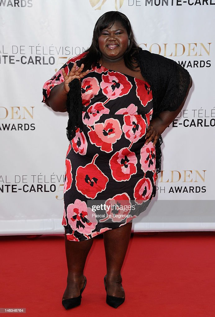 Actress Gabourey Sidibe arrives at the Closing Ceremony of the 52nd Monte Carlo TV Festival on June 14, 2012 in Monte-Carlo, Monaco.
