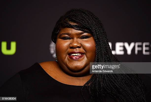 Actress Gabourey Sidibe arrives at The Paley Center For Media's 33rd Annual PaleyFest Los Angeles presentation of 'Difficult People' at the Dolby...